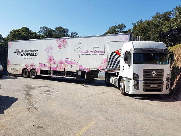 Carreta Mulheres De Peito Teste De Mamografia 2