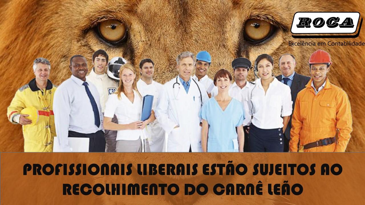 PROFISSIONAIS LIBERAIS ESTÃO SUJEITOS AO RECOLHIMENTO DO CARNÊ LEÃO