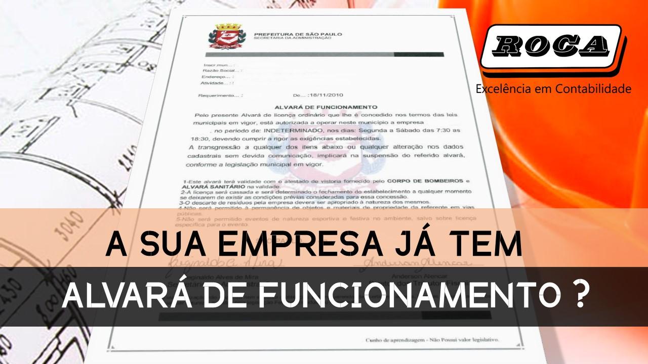 Alvara De Funcionamento