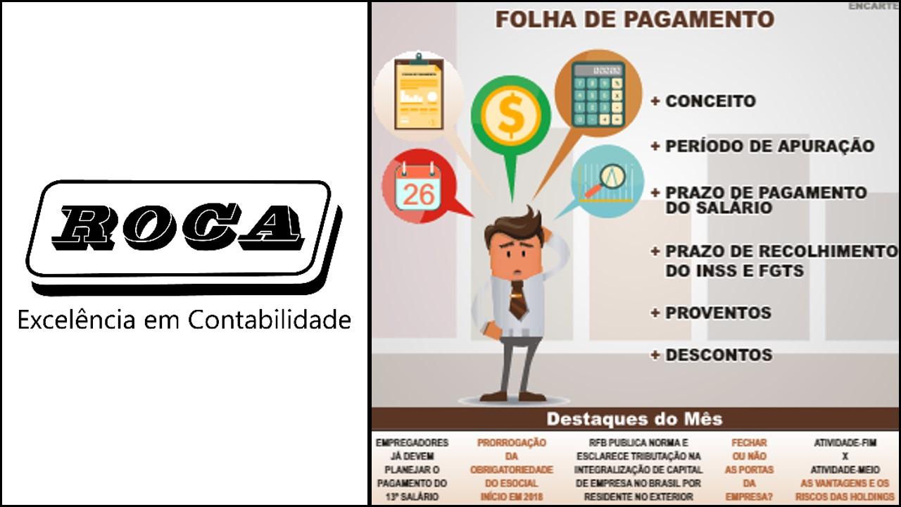 Boletim Roca 011/2016 Folha De Pagamento! Entenda Como Funciona…