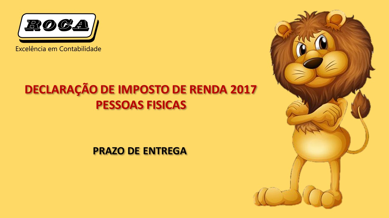 PRAZO DE ENTREGA IR 2017.ROCA