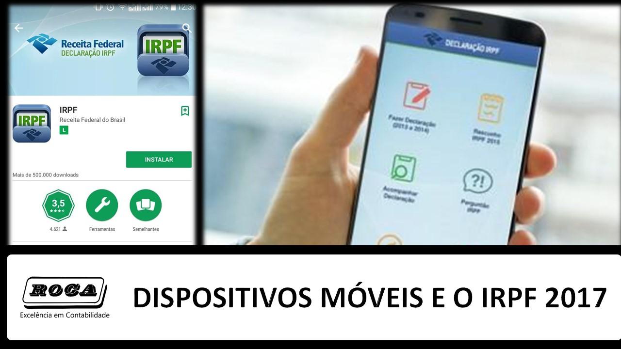 DISPOSITIVOS MÓVEIS IRPF 2017