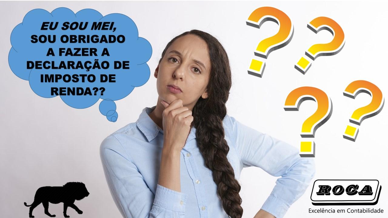 IMPOSTO DE RENDA  MEI