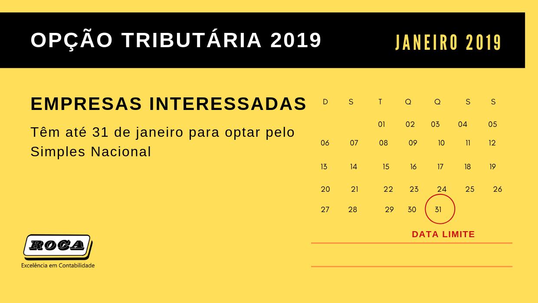 Empresas Interessadas Têm Até 31 De Janeiro Para Optar Pelo Simples Nacional