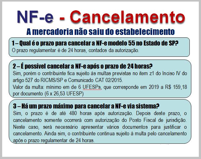 Nfe Regras De Cancelamento - Roca Contábil