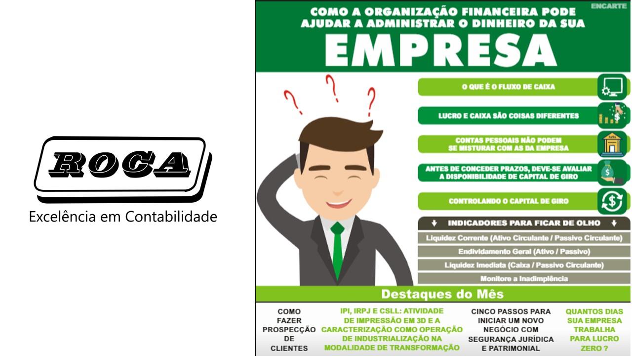 Como A Organização Financeira Pode Ajudar A - Roca Contábil