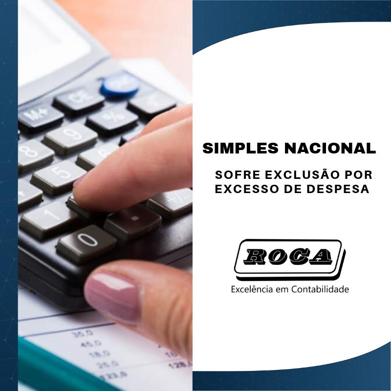 SIMPLES NACIONAL SOFRE EXCLUSÃO POR EXCESSO DE DESPESA