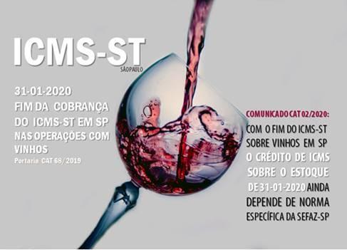 ICMS: SP RETIRA VINHO DA SUBSTITUIÇÃO TRIBUTÁRIA A PARTIR DE FEVEREIRO DE 2020