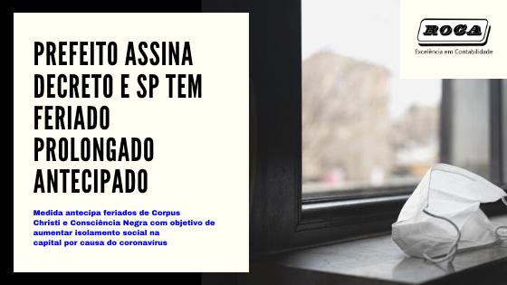 Prefeito Assina Decreto ESP Tem Feriado Prolongado Antecipado