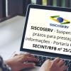 SISCOSERV – Suspensão Dos Prazos Para Prestação De Informações