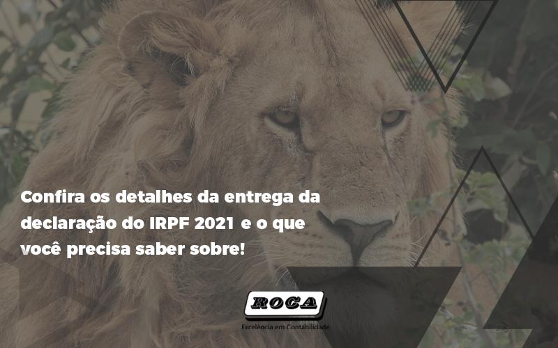 Confira Os Detalhes Da Entrega Da Declaração Do Irpf 2021 - Contabilidade No Morumbi - SP | Roca Contábil