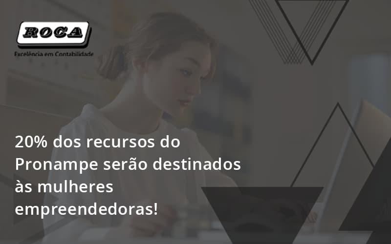 20% Dos Recursos Do Pronampe Serão Destinados às Mulheres Empreendedoras!
